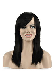 Natural long Black Color Popular Synthetic Wig For Woman