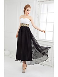 Formal Evening Dress-Ivory Ball Gown Sweetheart Ankle-length Chiffon