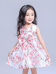 Girl's Casual/Daily Floral Dress,Cotton Summer Multi-color