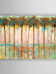 Hand Painted Oil Painting Landscape Abstract Palms at Dusk with Stretched Frame 7 Wall Arts®