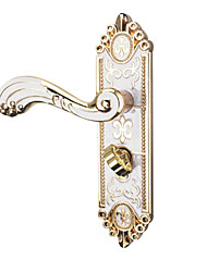 Zinc alloy Agate white Indoor door lock