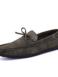 Chaussures Hommes Décontracté Noir / Jaune / Gris Similicuir Chaussures Bateau