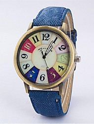 Couple's Dress Watch Fashion Watch Casual Watch Quartz Fabric Band Vintage Black White Blue Red Rose