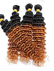 Menschenhaar spinnt Brasilianisches Haar Locken 6 Monate 4 Stück Haar webt