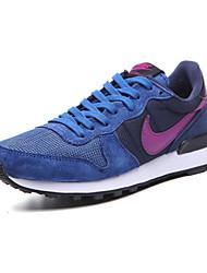 Sapatos Tênis Feminino Azul Marinho Camurça / Tule