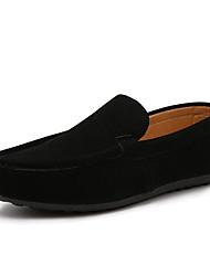 Men's Loafers & Slip-Ons Summer Comfort Fleece Casual Flat Heel Black Orange Gray Blue