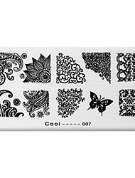 BlueZOO Rectangle Printing Nail Art Stamping (C-007)