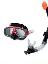 INTEX Unisex Swimming Goggles Transparent Waterproof Plastic Plastic