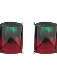 Fashion Gradient Color Squares Chocolate Earrings