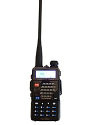 BAOFENG UV-5RB Walkie Talkie 5W/1W 128 400-470MHz / 136-174MHz 1800mAh 3 km -5kmFM Radio / Notruf / PC-Software programmierbar /