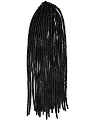 Black Crochet Dread Locks Hair Extensions 20inch Kanekalon 1 Strand 100g gram Hair Braids