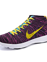 Nike Flyknit High Tops Men's Running Shoe Sneakers Athletic Shoes Green Grey Purple Light Blue