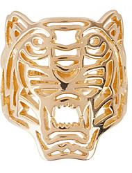 Anéis Unisexo Sem Pedra Liga Liga 8 Dourado As cores de embelezamento estão disponiveis na imagem.