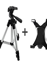 Aluminum Alloy Tripod with 1/4'' Screw +iPad Clamp+Phone Clamp for Camera or Phone and PC Webcam