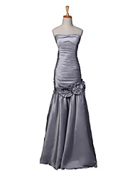 Formal Evening Dress Fit & Flare Strapless Floor-length Taffeta
