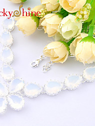 Necklace Chain Necklaces Jewelry Wedding / Party / Daily / Casual / Sports Line Fashionable Silver 1pc Gift