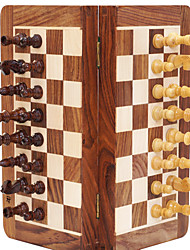 Magnetic Wooden Chess Chess Boxwood Jin Huali Solid Wood Pieces Chess Set Size