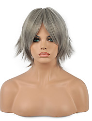 Cosplay Wig  Short Wavy Sliver Hair Synthetic Wig.