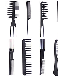 10 Pieces / Sets Of Cosmetic Comb Professional Hair Comb Anti-Static Comb Black Comb