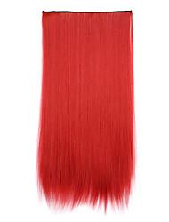 comprimento sintética vermelha 70 centímetros de receber um cabelo de ondulação chip de pílulas cabelos lisos (130m cor)