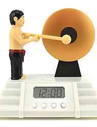 créatifs mignons frapper une horloge d'alarme multi-fonctionnelle gong