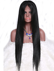 7A Silky Straight Full Lace Wig Brazilian Virgin Hair Straight Glueless Human Hair Wig With Baby Hair For Black Women