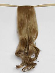 вода волна бежевый блондин синтетический тип повязка парик волос хвостик (цвет 27x)