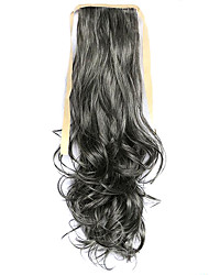 Wig Gray 50CM High-Temperature Wire Strap Style Long Hair Ponytail Colour 2/613