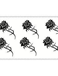 Art und Weise temporäre Tattoos Rose sexy Body-Art wasserdicht Tattoo-Aufkleber (Größe: 2,36 '' von 4,13 '')