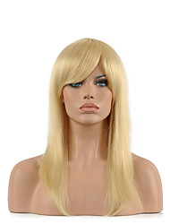 Natural Long Length Blonde Color Popular Synthetic Wig For Woman