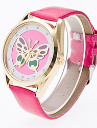 Women's 3D Hollow Engraving Butterfly Luxury Leather Brand Quartz Wristwatch Fashion Watches(Assorted colors) Cool Watches Unique Watches