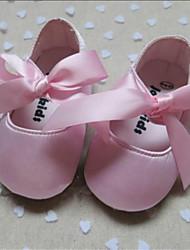 Chaussures bébé-Rose-Extérieure-Soie-Plates