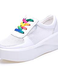 Розовый / Белый / Серебристый-Женская обувь-Для офиса / Для праздника / На каждый день-Синтетика-На плоской подошве-Удобная обувь-