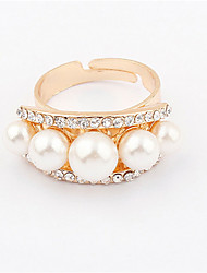 Korean Pearl Ring - Starry