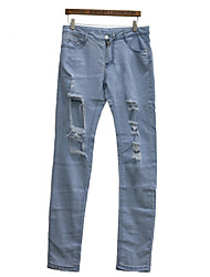 Shaperdiva Women's Denim Jeans Skinny Distressed Pants