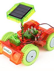 la science de l'expérience scientifique éducatif bricolage solaire jouets scientifiques manivelle 2 avec des voitures