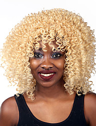 New Fashion Women's Glueless Blonde Curly Short Hair Wig for African American
