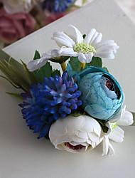 Fleurs de mariage Forme libre Roses Petit bouquet de fleurs au poignet Mariage La Fête / soirée Polyester Satin