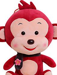 Fubao Monkey Monkey Mascot Zodiac Monkey Puppet Doll Baby Safe Plush Toys 60Cm Red Wine