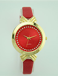 Women's European Style Fashion Casual Bow Shiny Rhinestone Wrist watch