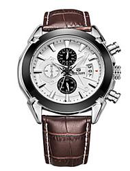 MEGIR® Men's Leather Band 30M Water Resistant Dress Watch Jewelry Wrist Watch Cool Watch Unique Watch