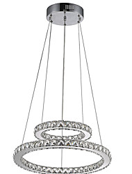 Hotel Pendant Light Crystal Chandeliers Lighting Ceiling Lamps Fixtures with LED Warm and LED Cool White D2040CM CE UL