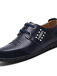 Men's Shoes Casual Leather / Suede Oxfords Black / Blue / Brown / White