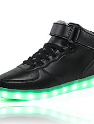 los zapatos más elevado LED llevó la luz de los zapatos luminosos de carga USB a zapatillas de deporte