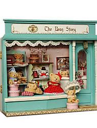 Чи весело дом ручной хижина магазин смарт-модель серии медведь сказка дом