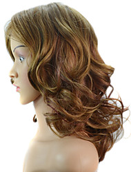 Women Long Body Wave Synthetic Hair Wig Brown Heat Resistant Cheap Cosplay Party Wig Hair