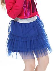 Menina de Saia Verão Poliéster / Elastano Azul / Rosa