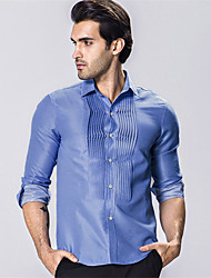 2016 New Brand Men's Casual Shirt Long Sleeve Banded Collar Shirts Slim Fit Dress Shirt Business Men
