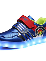 Boys' Shoes Wedding / Outdoor / Casual PU Fashion Sneakers Black / WhiteLED shoes