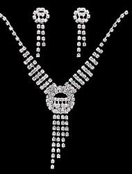Conjunto de joyas Diamantes Sintéticos Aleación / Diamantes Sintéticos De mujeres